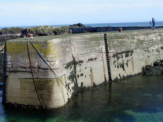 Harbour wall, St Abbs