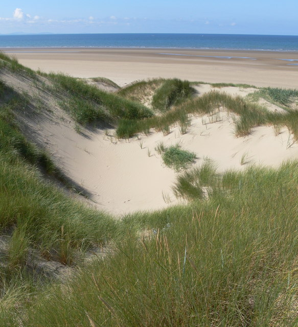 Sand dunes at Traeth Penrhos