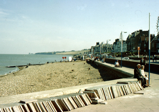 Herne Bay sea front circa 1979