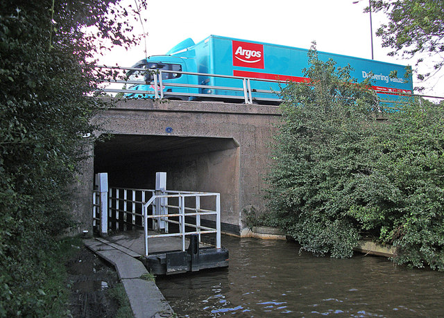 Rochdale Canal passing beneath M62 motorway