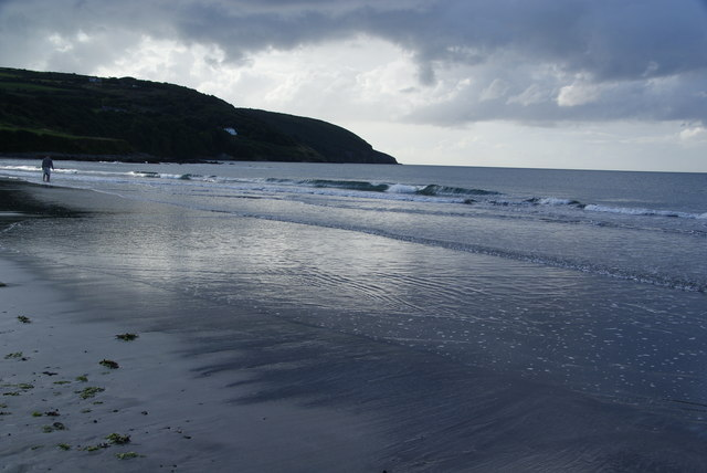 The water's edge on Poppit Sands