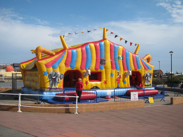 Bouncy castle at Stade Family Fun Park