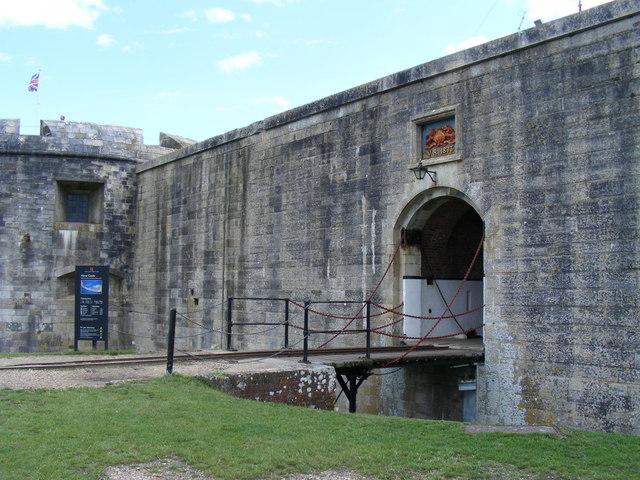 Entrance to Hurst Castle