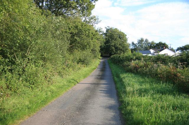 Devon Lane looking towards Beacon Cross