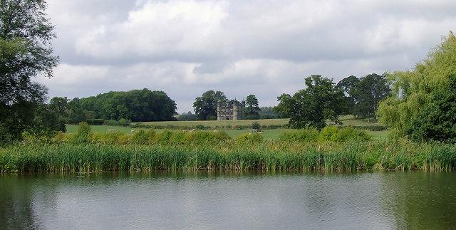 Tixall Wide and farmland near Great Haywood, Staffordshire
