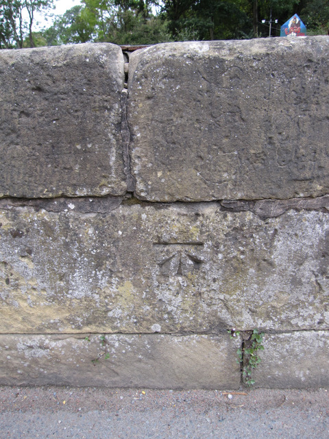 Bench mark on Pont Adam, Ruabon