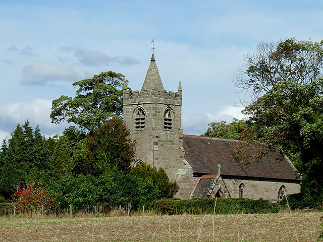 The Church of St James at Acton Trussell, Staffordshire