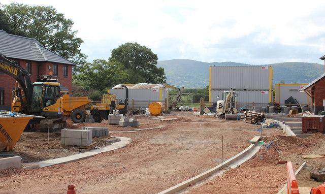 Building site (centre), Hanley Swan