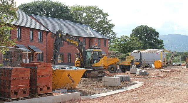Building site (left), Hanley Swan