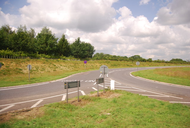 Slip road off the A11, Workhouse Common