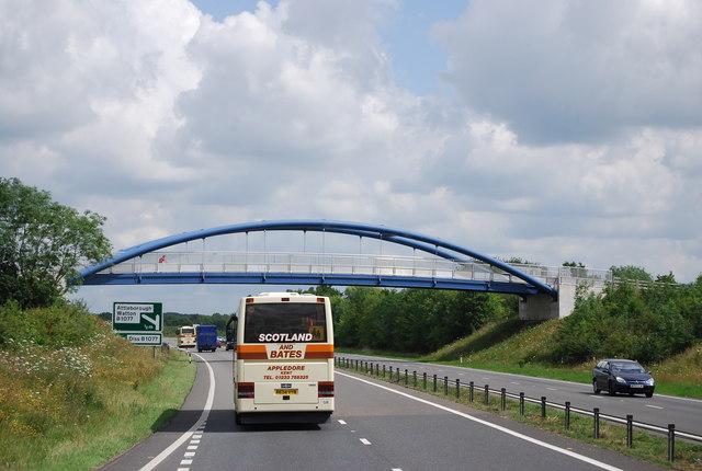 Footbridge across the A11