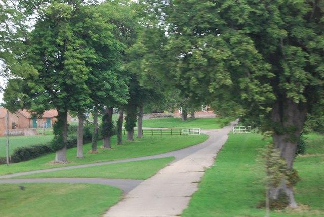 Driveway to Attleborough Hall