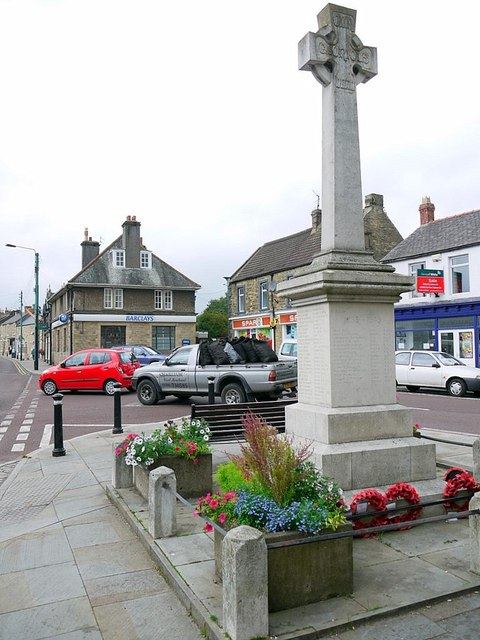 Wolsingham War Memorial, Market Place