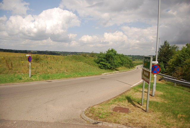 Slip road to the A47