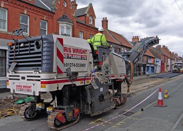 Road Planing Machine on High Street