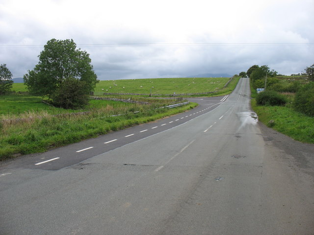 Road junction on the old A66