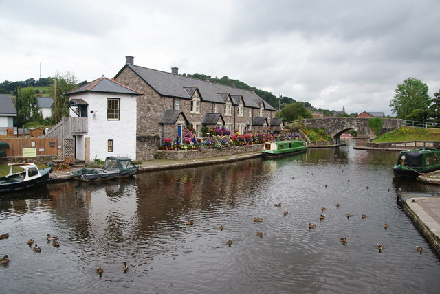 Canal basin at Brecon