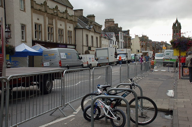 Preparations for 2011 Tour of Britain, Peebles