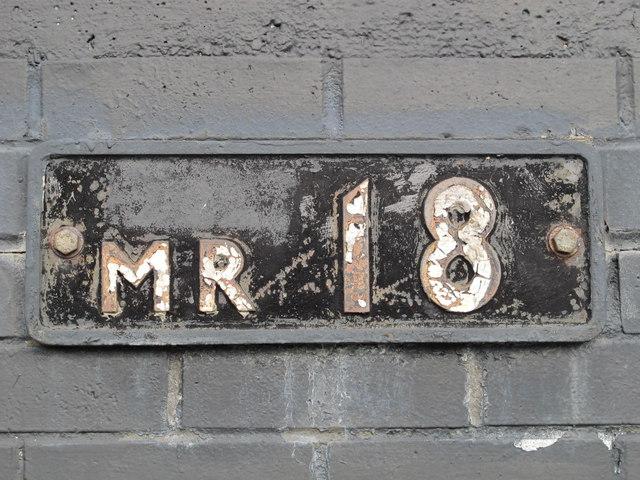 Plaque on the Mapesbury Road railway bridge, NW2