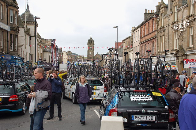 Awaiting the start, 2011 Tour of Britain