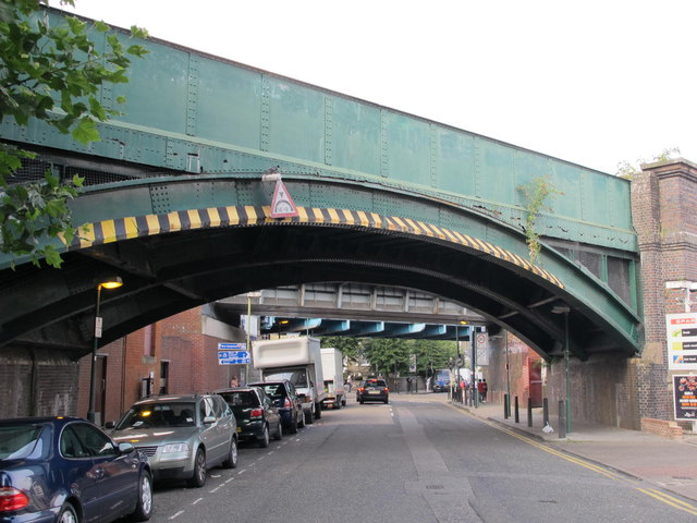 Railway and underground bridges over Christchurch Avenue, NW2