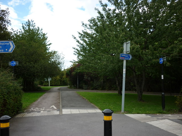 The Trans Pennine Trail at Mount Pleasant, Hull