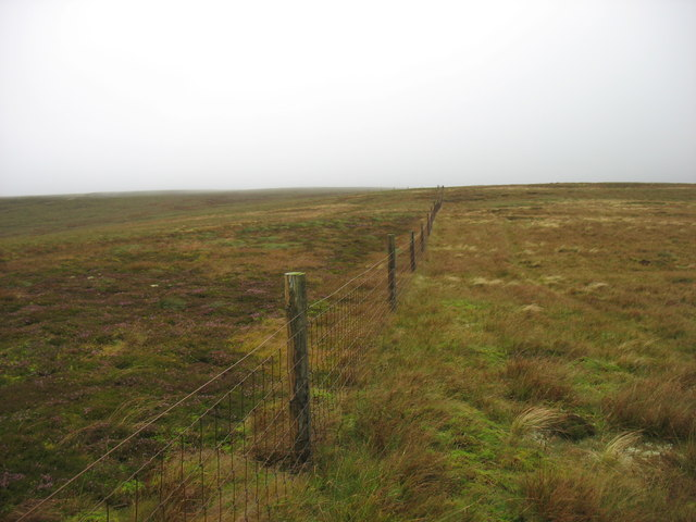 The boundary fence on Great Calva