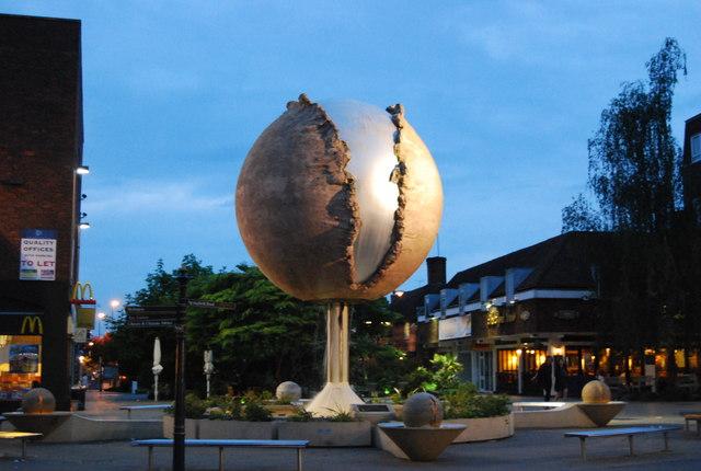 Modern sculpture, West St