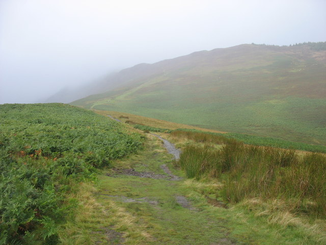 The path to Grisedale Pike in the mist