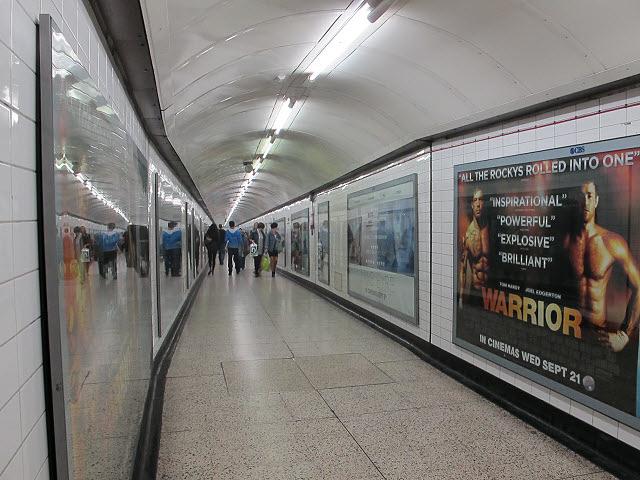 Passageway at Charing Cross tube station