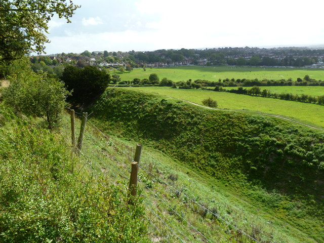 Old Sarum, ditch