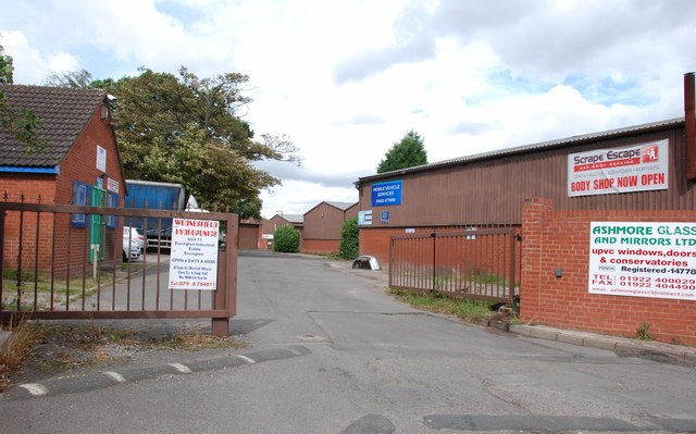 Entrance to Essington Industrial Estate off the B4156
