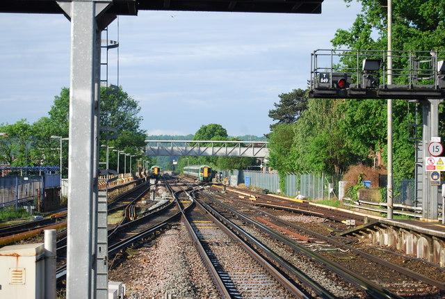 Railway line south of Horsham Station