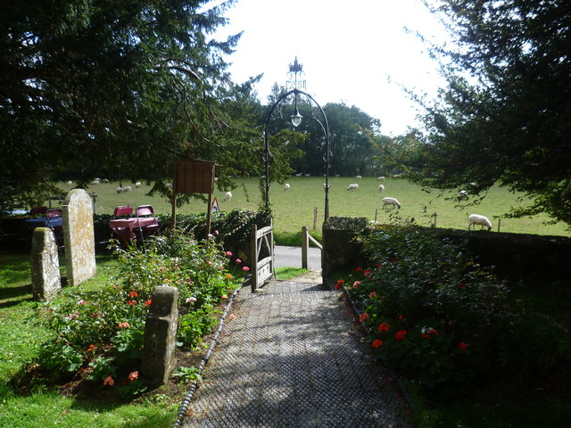 View from the porch of St Nicholas Church, Boughton Malherbe