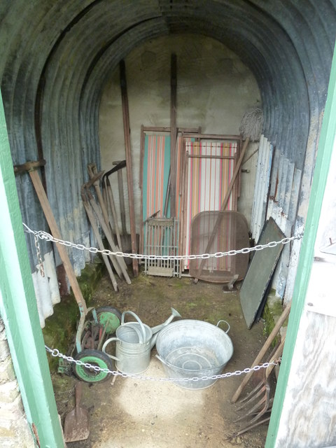 COAM 32: shed items within an air raid shelter