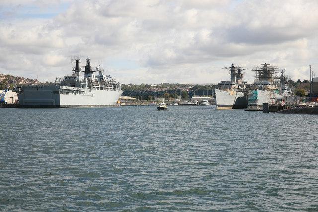 Weston Mill Ships in the Dockyard