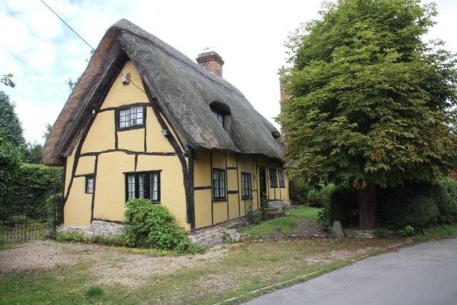 Wood framed cottage on Church Lane