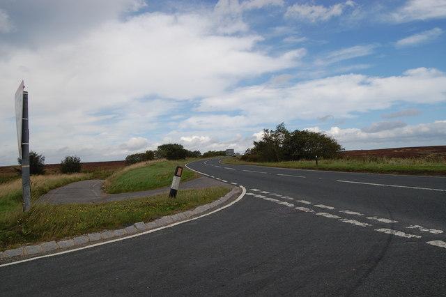 Road junction at Sneaton Corner