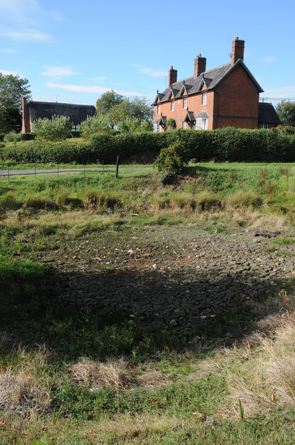 Dried up village pond, Forthampton