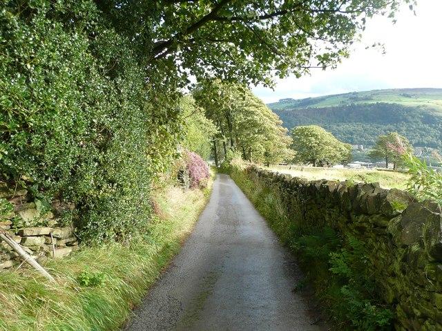 Driveway to Wadsworth Banks Farm, Mytholmroyd
