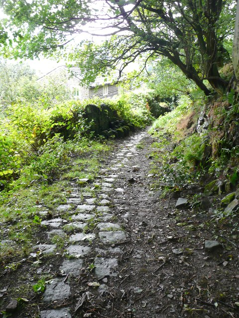 Cobbled track to Hanging Royd, Mytholmroyd