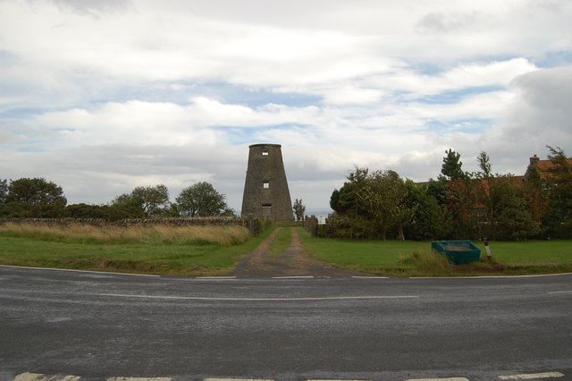 The disused Beacon Windmill