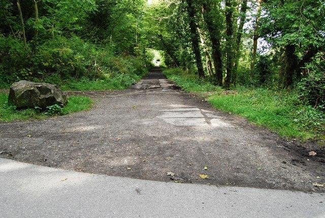 Disused railway track at Hayburn Wyke