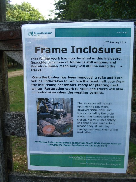 Forestry Commission work in Frame Inclosure