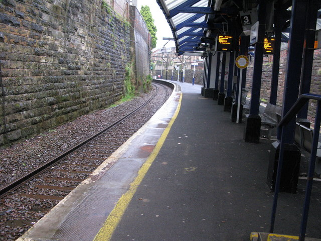 Crosshill railway station, looking NW