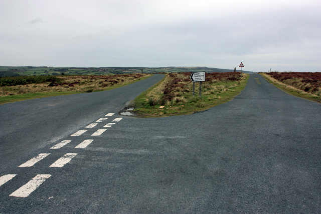 A junction on the North York Moors