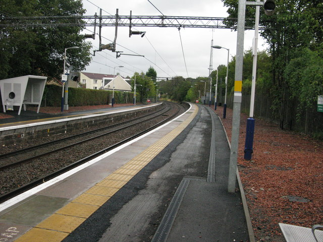 Hillfoot railway station, looking North-East