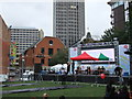 TQ3180 : Outdoor stage  at Thames Festival 2011 by PAUL FARMER