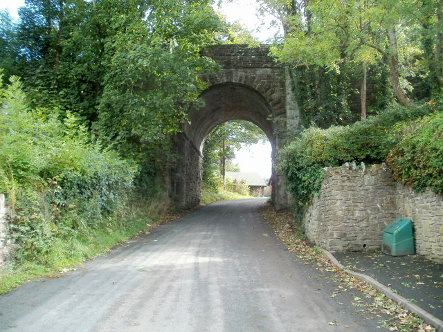 Grade II listed Treble Hill railway bridge, Glasbury, viewed from the NW