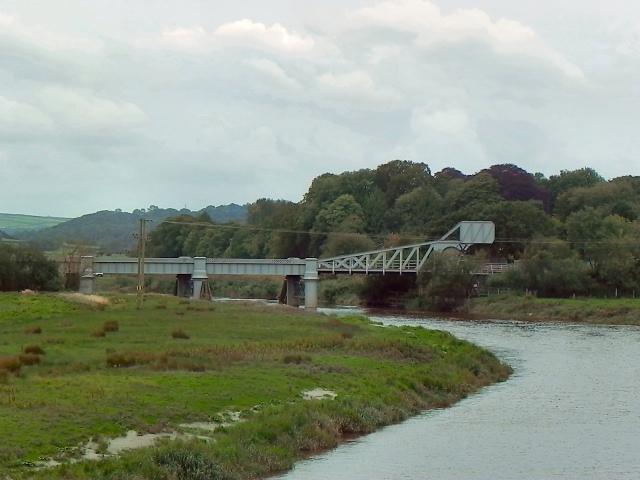 Afon Tywi, Railway Bridge near Carmarthen